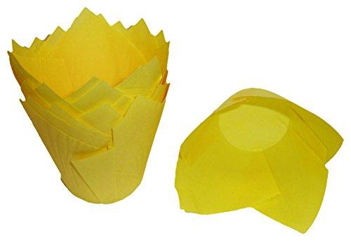 Scrumptious Sprinkles Tulip Muffinförmchen, gelb x 200 -
