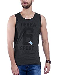 Maniac Men's Cotton Sleeveless Round Neck Vest