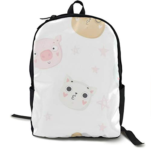 Unisex Fashion Backpack Cute Baby Animals Nursery Children Perfect Phone Cases Nursery School Bag 15.6 Inch Laptop Computer Casual Daypack -