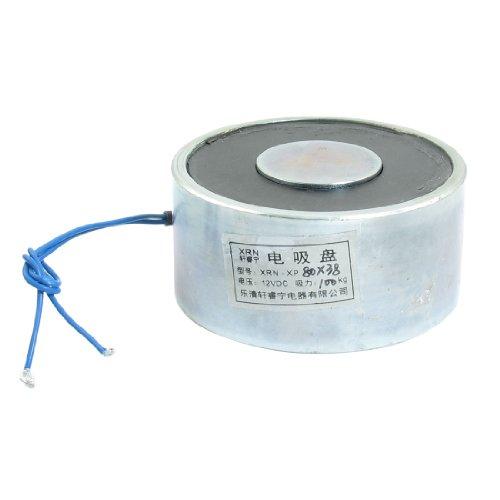 sourcing map 80x 38mm 100kg Saugen Disc Solenoid Lift halten Elektromagnet DC 12V