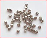 Lyndie's Craft 50 Tibetan Silver tiny heart beads x3mm x 2mm. Jewellery