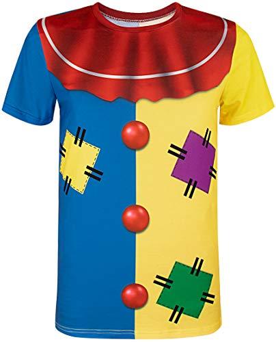 4280b5f450 COSAVOROCK Camisetas Disfraz de Payaso para Hombre (M