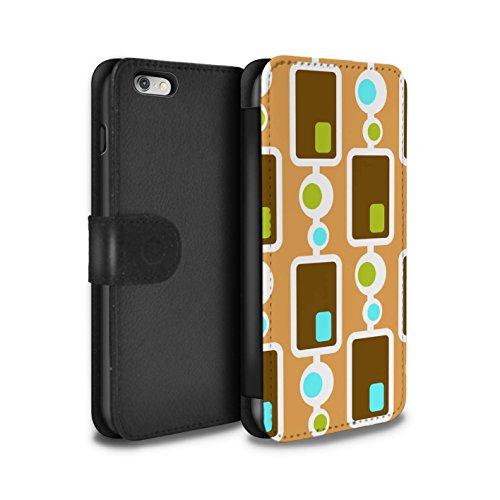 Stuff4 Coque/Etui/Housse Cuir PU Case/Cover pour Apple iPhone 6+/Plus 5.5 / Années 60/1960 Design / Modèle Décennie Collection Années 70/1970