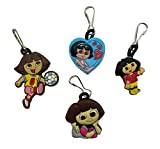 Dora the Explorer Snap Hook Zipper Pulls 4 Pcs Set #1