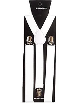Toocool - Bretelle donna uomo straccali suspenders regolabili elastiche ballo danza BR-01