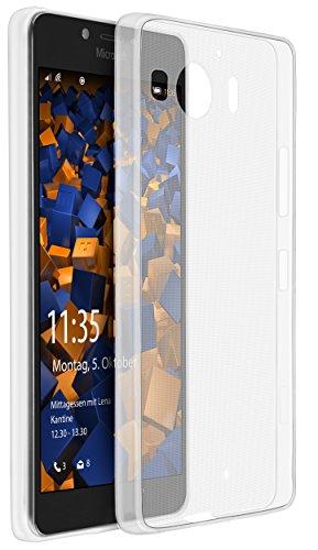 mumbi Schutzhülle für Microsoft Lumia 950 Hülle transparent (Ultra Slim - 0.55 mm)