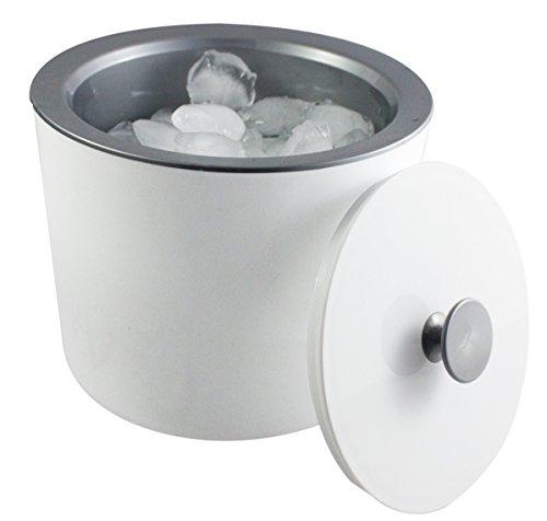 Eiswürfelbox mit Deckel und silbernem Innenbehälter