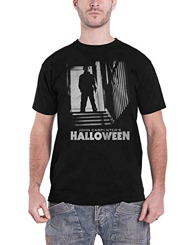 Halloween T Shirt Michael Stairs Horror Movie Logo Nue offiziell Herren