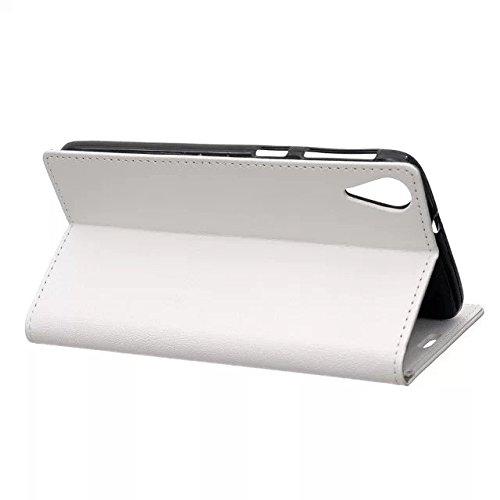 Kas Texture Pattern Horizontal Flip Stand Case Solide Farbe Leder Tasche Cover mit Karte Cash Slots für HTC Desire 828 ( Color : Red , Size : HTC Desire 828 ) White
