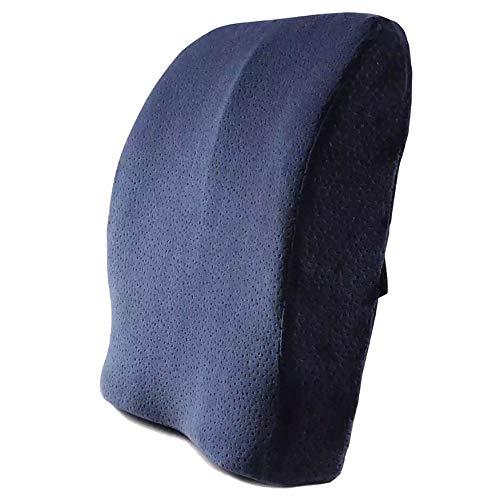 Support lombaire du siège auto Voyage de voiture de bureau de coussin de soutien lombaire améliorer des chaises de bureau à la maison de posture et plus ( Color : Blue , Size : Free size )