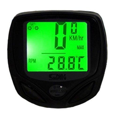LHGS - Velocímetro Digital de retroiluminación para Bicicleta, Impermeable, LCD, inalámbrico