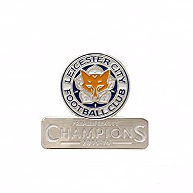 Leicester City Champions Crest Pin Badge - One Size