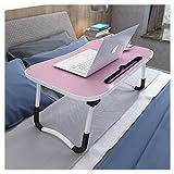 Klappbetttisch, Tabletttisch, tragbarer Stehpult, mit faltbaren Beinen, faltbarer Sofa-Frühstückstisch, Notebook-Ständerlesehalter für Couch-Boden,C