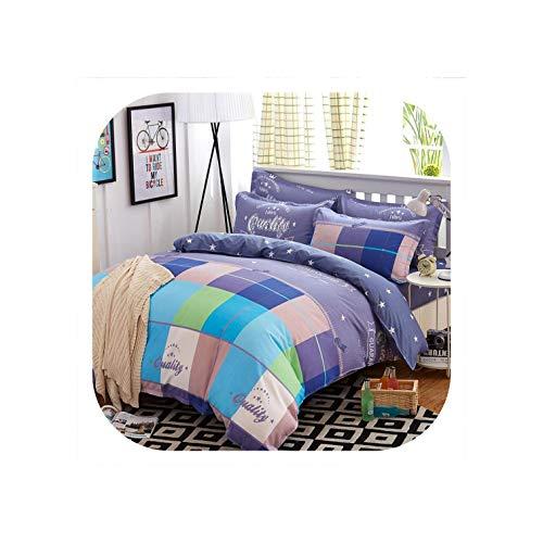 Bettwäsche-Set 5 Größe 4Pcs / Set Bettbezug-Set-Bett-Blatt Ab Seite, Sommer Moca, Ganz (Das Blatt Menschen, Bettwäsche)