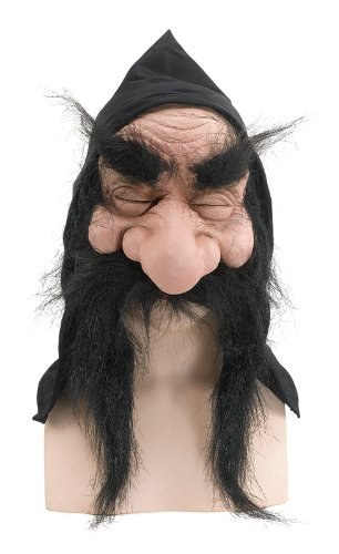 Gnome Mask With Hood And Beard Fairy Tale Elf Troll Halloween Fancy Dress by Home & Leisure Online