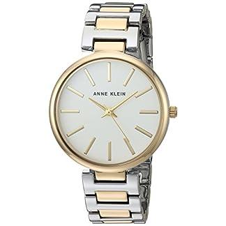 Anne Klein Reloj Analógico para Mujer de Cuarzo japonés con Correa en Aleación AK/2787SVTT