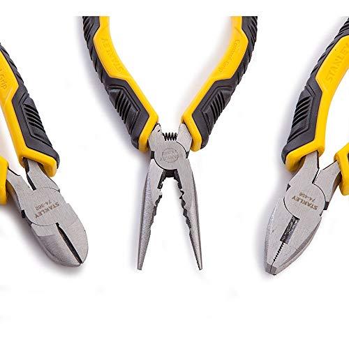 Stanley STHT0-75094 Pinze Control Grip, Becchi lunghi, Set di 3 pz