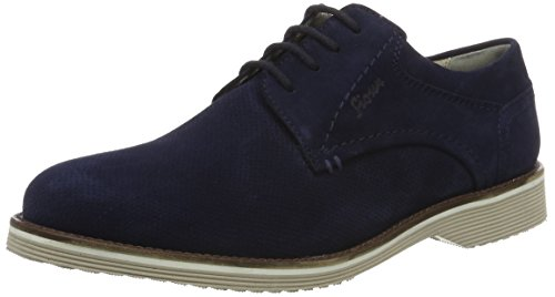 Sioux Dimitar-xl, Derby homme bleu (Atlantic)