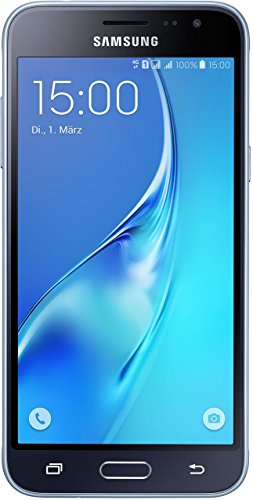 Samsung Galaxy J3 DUOS Smartphone (12,63 cm (5 Zoll) HD Super-AMOLED-Touchscreen, 8 GB, Android 5.1 Lollipop) schwarz Samsung