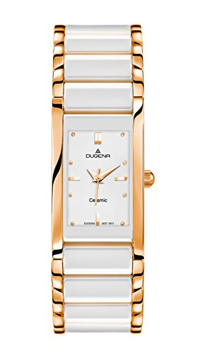 Dugena Women's Quartz Watch Analogue Display and Ceramic Strap 4460590