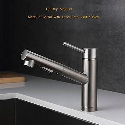moderno grifo mezclador monomando pull-down Rociador cocina tire hacia fuera cocina fregadero grifos de acero inoxidable