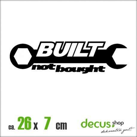 Decus Built NOT Bought SCHRAUBENSCHLüSSEL II XL 1612 // Sticker OEM JDM Style Aufkleber (weiß)