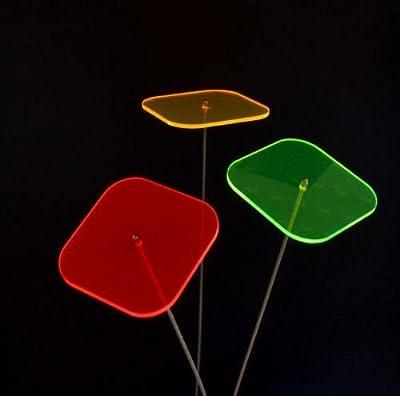 3er Set Sonnenfänger/Suncatcher Quadrat 150cm Edelstahl.-Stab LISA verschiedene Farben von Schmalz Werbeservice bei Du und dein Garten
