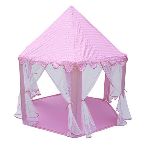 70x 61 x 50 Juegos de Interior y Exterior LWKBE Toy Hex Tents- casa de Juguetes para bebés excelente Regalo para niños y niñas,White