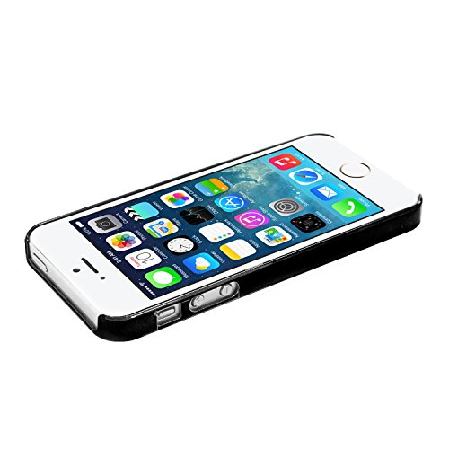 iProtect Schutzhülle Apple iPhone 5, 5s, SE Hülle Walking Dog Edition transparent pink Schwarz Butterflygirl