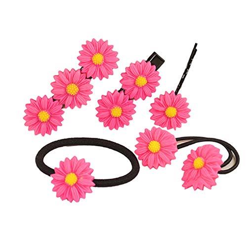 Lorsoul Frauen-Blumenform-Haar-Klipp-Ohr-Haarnadel Haarspangen Kopfbedeckung-Haar-Riegel-Band-Mädchen-Kopfschmuck -