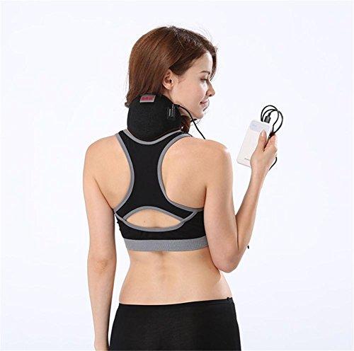 JHKJ Hot Therapy Beheizte Soft Hals Halskrause Halskragen, Verstellbare Nacken Heizkissen Für Kopfschmerzen Steifen Nackenschmerzen Relief Und Wärmer