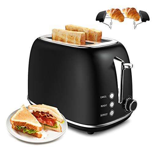 morpilot Toaster Grille-Pain Rétro 2 Fentes Acier Inoxydable,6...