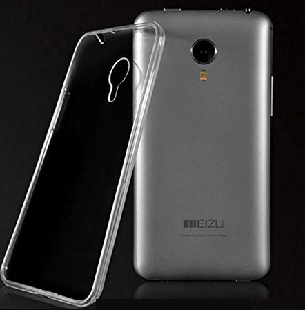Dashmesh Shopping Ultra Thin 0.3mm Clear Transparent Flexible Soft TPU Slim Back cover Compatible for Meizu M2 NOTE