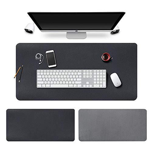LQZZHComputer Pad Tischset Wasserdicht Extra Große Mauspad Schreibtisch Pad Tastatur Pad Student Schreibblock Lernen Desktop-Matte 450X900Mm @ Black_400X800Mm (Tischsets Für Das Lernen)