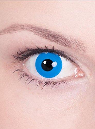 Halloween Karneval Party Motiv farbige Linsen Kontaktlinsen Waldelb blau 1 - Monatslinsen ohne Stärke für Frauen und (Kontakt Linsen Billig)