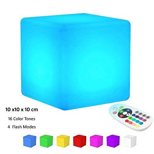 LED Cube Mood Light, shsyue recargable Cubo luminoso,16