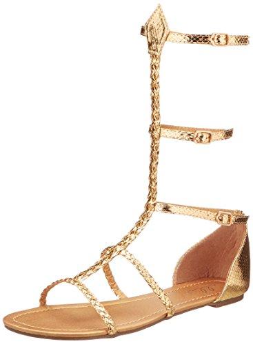 Ellie Zapatos E015-CAIRO-8 Tama-o 8 Mujeres de Egipto y sandalias de oro griego