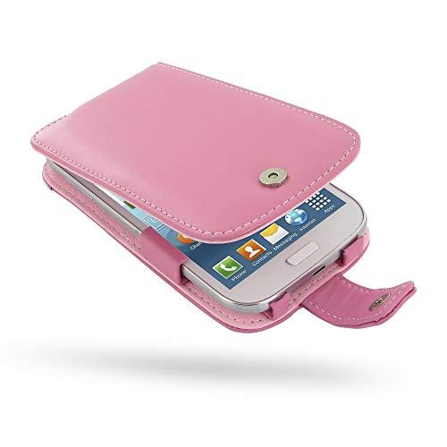 PDair Handarbeit Leder Hülle - Leather Flip Case for Samsung Galaxy Grand Duos GT-i9082 GT-i9080 (Petal Pink)
