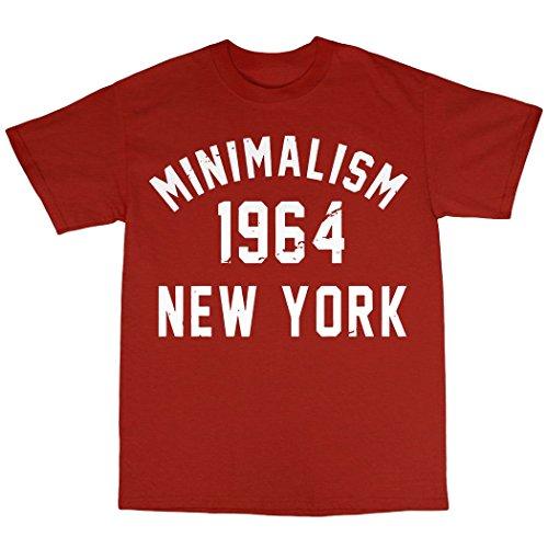 Minimalism 1964 T-Shirt 100% Baumwolle Rot