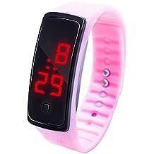 Reloj de Pulsera con Pantalla Digital LED,BBestseller Relojes Deportivo Infantil Podómetro Cronómetro electrónico Inteligente