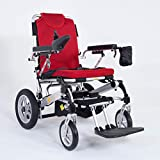 eFOLDi Power Chair - Folding Electric Wheelchair with Joystick for Adult (Red)