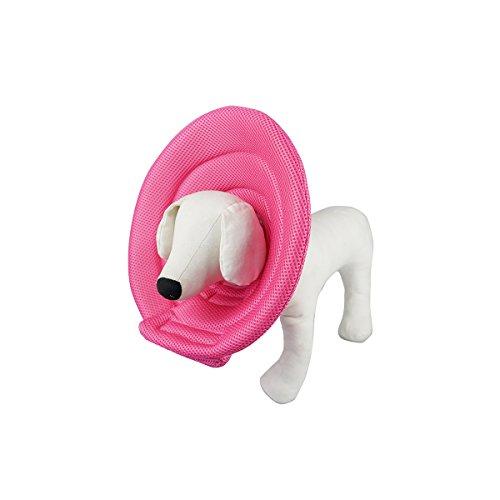 Ondoing Hunde Halskrause Halskragen Schutzkragen Pink L