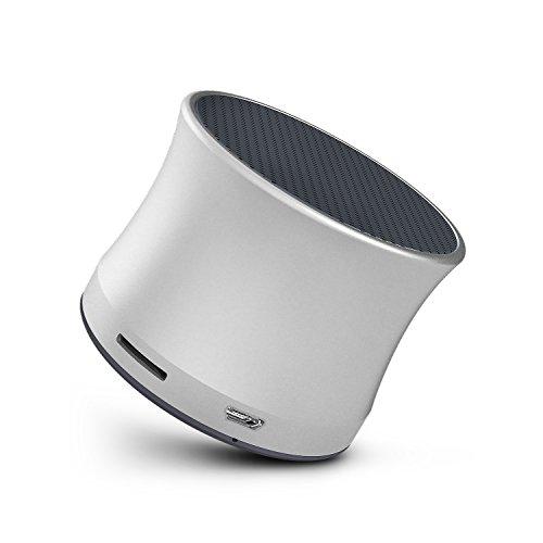 SPARIN Mini Bluetooth Lautsprecher, kleiner Portable Lautsprecher für drahtlose Bluetooth, mit unglaublichen Bass-Effekt, Mobiler mini Bluetooth 3.0 Lautsprecher (Silber)