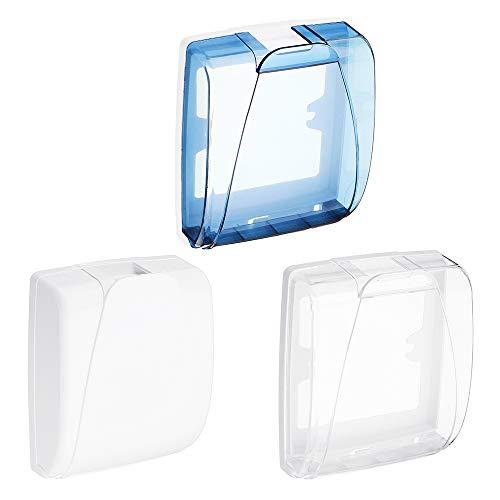 ZHENWOFC Universal Wasserdichte 86 Steckdose Platte Panel Lichtschalter Box Cover Protector für Badezimmer LED-Licht (Color : White) - Panel Protector