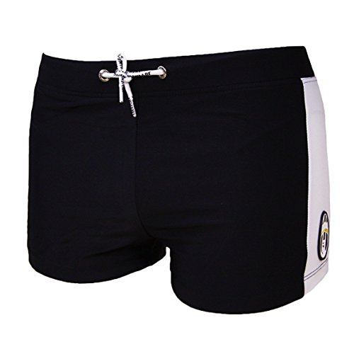 F.C.Internazionale Costume Boxer Pantaloncino Bimbo/Ragazzo Juventus Prodotto Ufficiale Lycra (3-4 Anni, Nero)