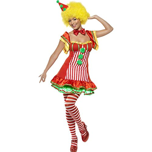 NET TOYS Bobo Clownkostüm Damen Harlekin Kostüm L 44/46 Clown Faschingskostüm Harlekinkostüm Zirkus Verkleidung Karneval - Bobo Der Clown Kostüm