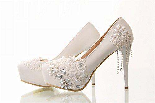 Miyoopark , Semelle compensée femme Ivory-14cm Heel