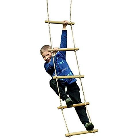 eggdel Parque infantil de madera Escalera de cuerda de escalada para niños interior/exterior 78pulgadas