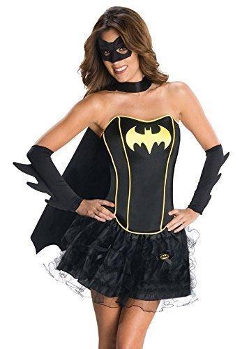 Fancy Me Damen Batgirl Supergirl Wonder Woman Robin Super Hero Korsett Tutu Halloween Junggesellinnenabschied Kostüm Kleid Outfit 6-18 - Batgirl, 6-8