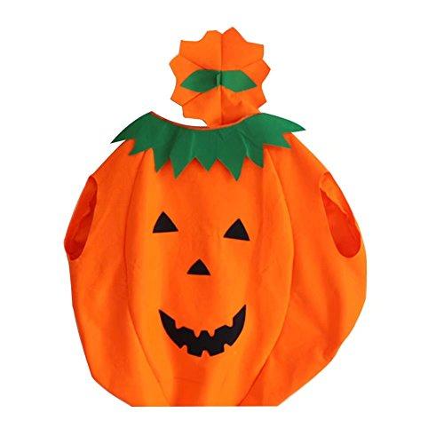Imagen de bello luna halloween niños calabaza disfraces fantasía cosplay partido vestido de decoración naranja